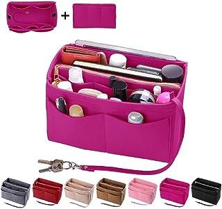 Purse Organizer Insert, Felt Bag organizer with zipper, Handbag & Tote Shaper, Fit