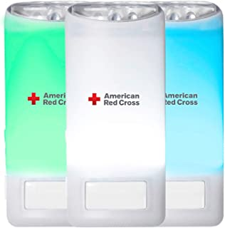 American Red Cross Blackout Buddy Color Motion Activated Emergency LED Flashlight, Blackout Alert & Nightlight