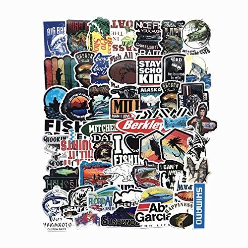 Grappige Fisherman Go Vissen Stickers Voor Laptop Koffer Vriezer Vinyl Car-styling Diy Decoratie Decals Auto Sticker 50 stks