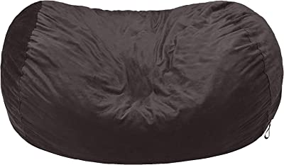 Amazon Basics Memory Foam Filled Bean Bag Chair with Microfiber Cover - 6', Gray