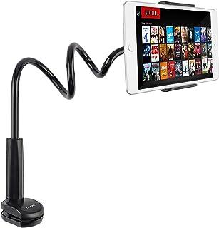 Tryone Soporte Tablet Móvil Multiángulo - Soporte con Cuello de Cisne Brazo para iPad Serie/Nintendo Switch/Samsung Galaxy Tabs/Huawei Mediapad/Kindle Fire y más, 75cm de Longitud Total(Negro)