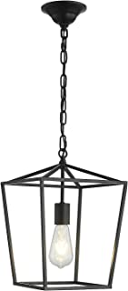 ANJIADENGSHI Vintage Lantern Pendant Light Lantern Iron 1...