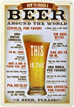 Toyvian Plaque Poster, Retro Vintage Metal Tin Signs for Cafe Bar, Beer Pub Wall Art Decor, 7.87 * 11.81 inch