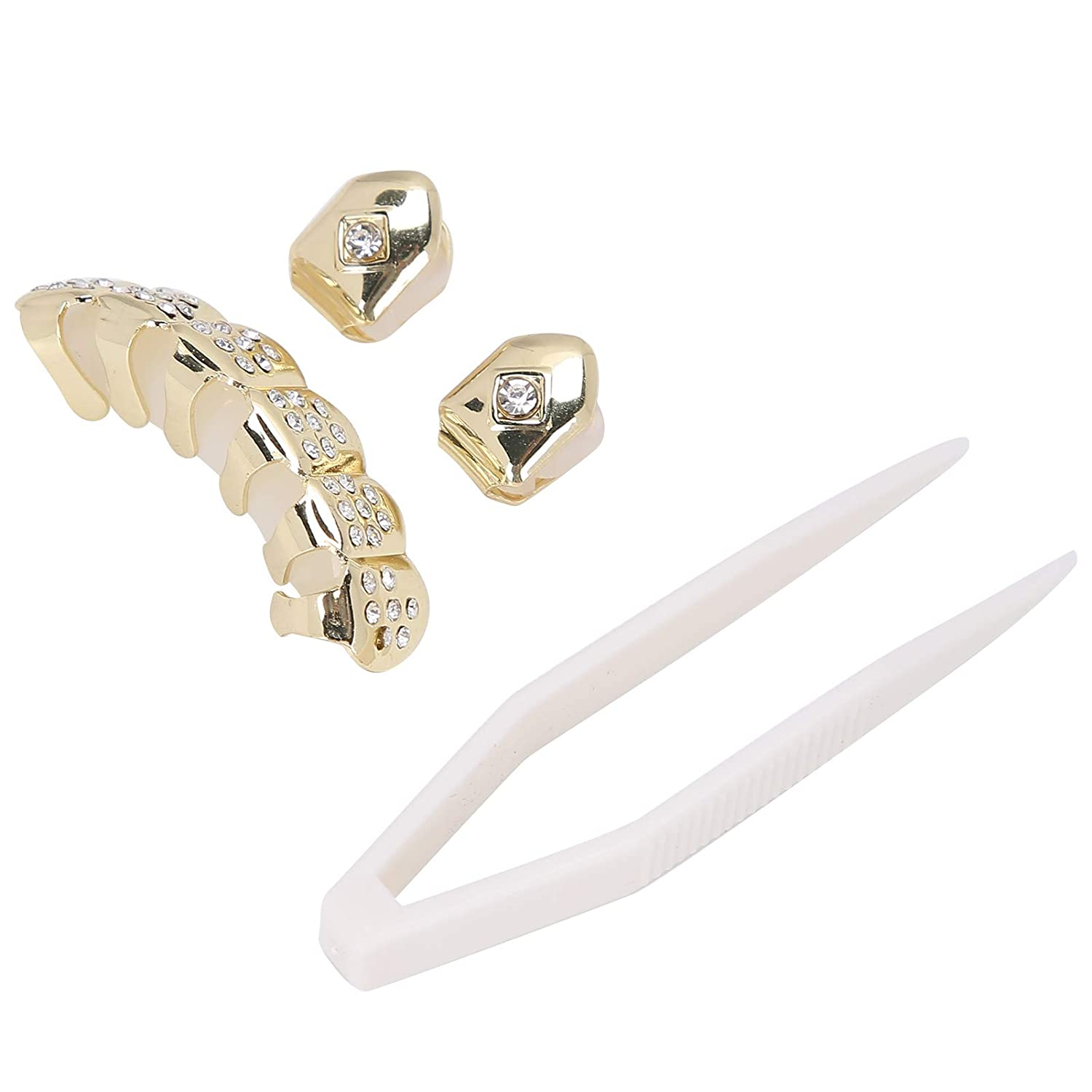 Hip Hop Style Tooth Plated-gold Metal Gold Teeth Body Jewelry for Women for Cosplay for Halloween for Party for Splint(Golden)