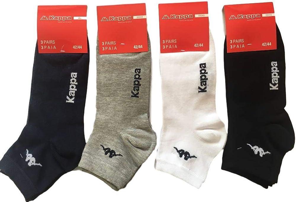 Kappa, confezione 6 paia calzino corto alla caviglia unisex, 77% cotone, 20% poliammide, 3% elastan K004