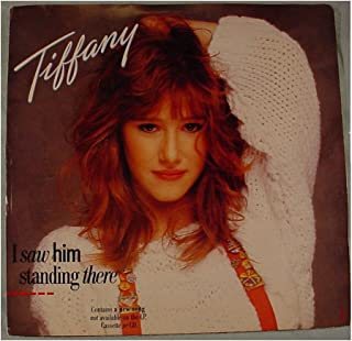 Tiffany Mint / NM Original White Label Radio Station Promo Issue 7 Inch 45 rpm & Picture Sleeve - I Saw Him Standing There(Same title plays on both sides) - MCA Records 1988