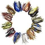 Riverruns Silicone Jig Skirts Fishing Lure Skirt Replacement for Spinnerbaits Bass Buzzbaits Fishing...