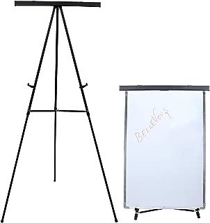 MAKELLO Flipchart-Staffelei mit Flipchart-Haken f/ür Kinder 60 x 45 cm h/öhenverstellbar