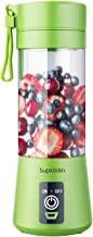 Supkitdin Portable Blender, Personal Mixer Fruit Rechargeable with USB, Mini Blender for Smoothie, Fruit Juice, Milk Shake...