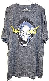 Primal Rage T-Shirt Overwatch Winston Spray (Medium) Heather Grey
