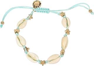 BCBGeneration Puka Shell & Star Woven Turquoise Adjustable Bracelet (23091812K440)
