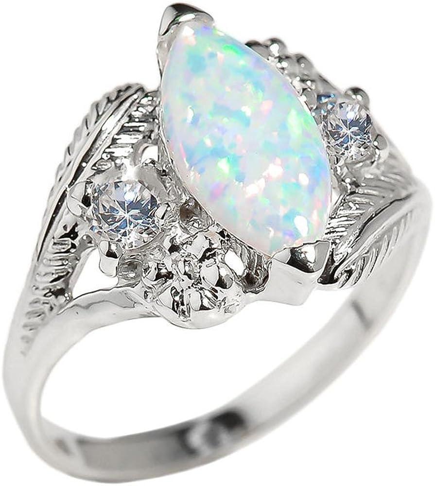 Women's 14k White Gold Statement Ring (10)