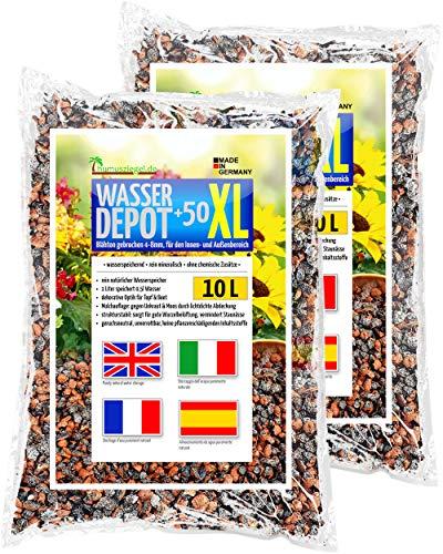 Humusziegel - Blähton für Pflanzen- Pflanzton XL - 4-8mm gebrochen - für Zimmerpflanzen, Pflanzenerde - als Wasserspeicher, gegen Unkraut und Staunässe - als Deckschicht - 20 L