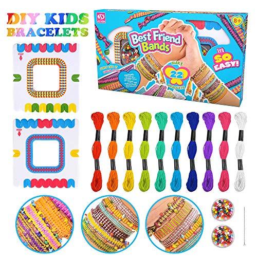 Gift for 6-10 Year Old Girls, Bracelet Kit for Girls Kids Toys Gift Age 7 8 9 Girl Kid Friendship Bracelet Making Kit for Girls Teen Birthday Gift for 5-9 Year Old Kids Girls Embroidery Kits for Girl