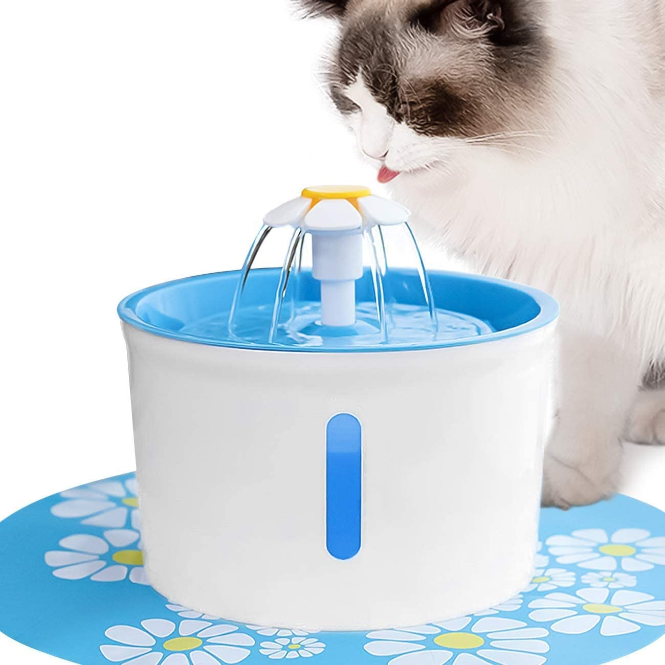 AIOMEST Cat Water Fountain with Mat- Silicone F Popular brand in the world Special Campaign Electrical