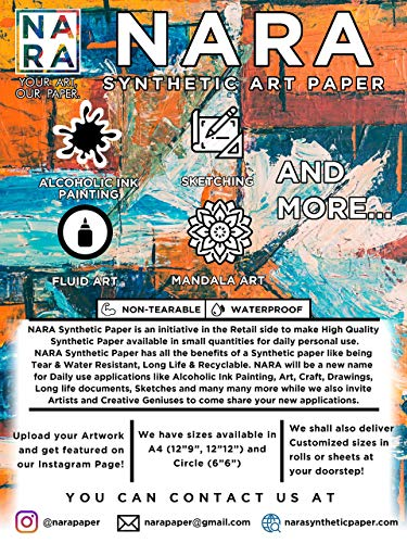 """NARA Paper for Alcohol Ink Painting 