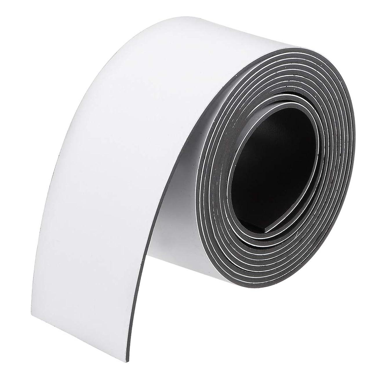 ハンドブック通り抜ける解体するuxcell uxcell ドライ消去フレキシブル磁気ストリップ 磁気シート ラベルステッカー 書き込み可能 ホワイトボード用 冷蔵庫 工芸品