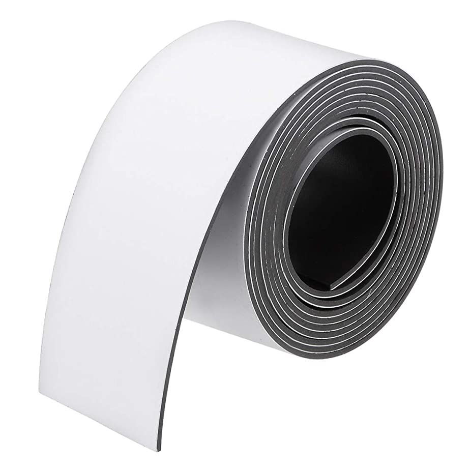 uxcell uxcell ドライ消去フレキシブル磁気ストリップ 磁気シート ラベルステッカー 書き込み可能 ホワイトボード用 冷蔵庫 工芸品