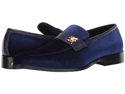 Stacy Adams Bellino Velour Slip-On (Royal Blue) Men