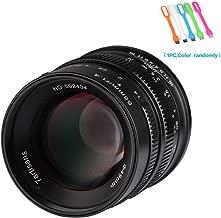 7artisans 55mm F1.4 APS-C Large Aperture Manual Focus Prime Fixed Lens Compatible for Canon EOS-M Mount Cameras M1,M2,M3,M5,M6,M10,M100- Black (55mm F1.4 Canon EOS-M Mount)