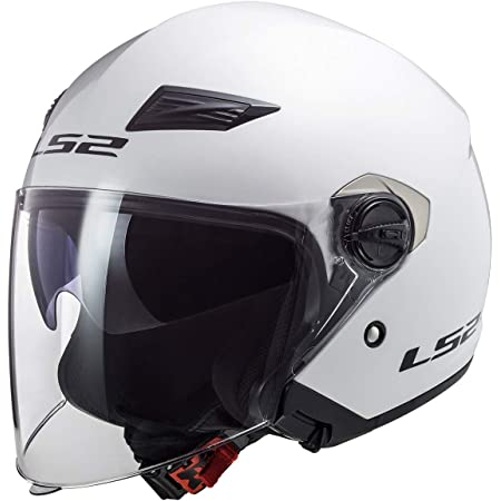 LS2 Helmets Open Face Track Helmet (Pearl White - X-Large)