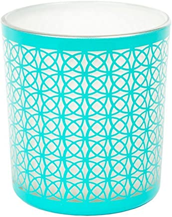 6.0x6.2x6.0 cm Azul YANKEE CANDLE Vaso Kristal translucido para Votiva Roly Poly Agua