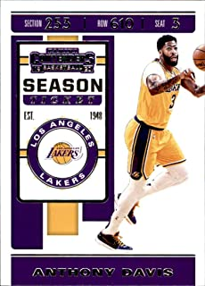 2019-20 Panini Contenders Basketball #7 Anthony Davis Los Angeles Lakers Basketball Card