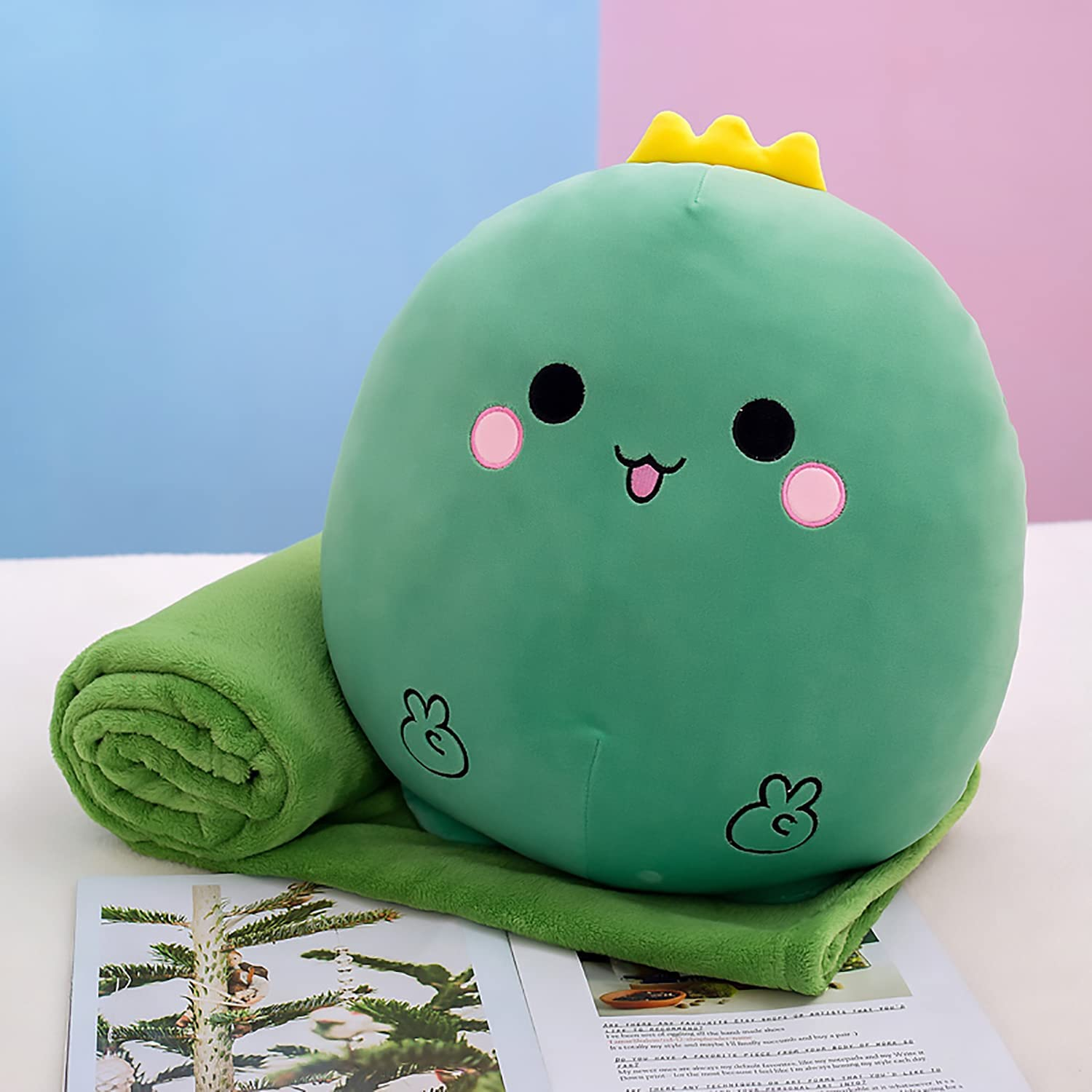 Cute Dinosaur Plush Ranking TOP15 Toy Pillow 40àGreen Flannel Blanket Discount mail order with