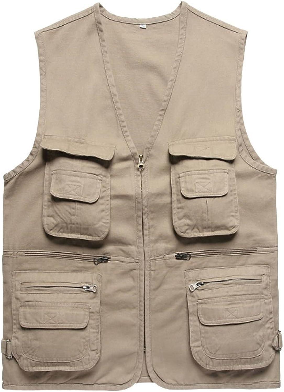 ZQXPP Men's Outdoor Multifunction MultiPocket Mesh Fishing Photo Journalist's Vest