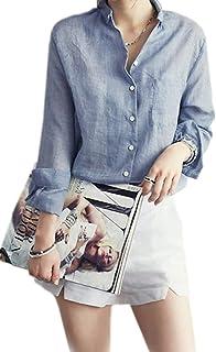 aa71d560f0 Amazon.it: camicia lino - Bluse e camicie / T-shirt, top e bluse ...
