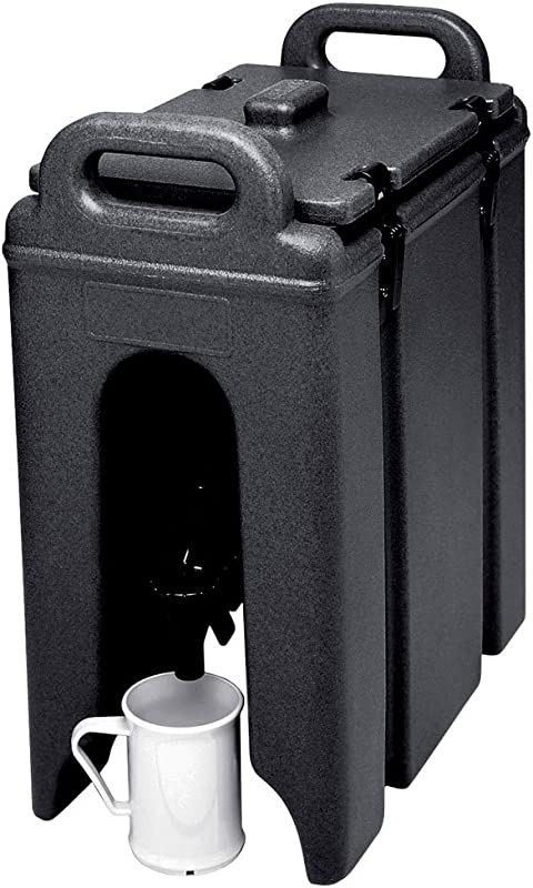 Cambro 250LCD 110 250LCD110 Black 2 5 Gal Beverage Camtainer