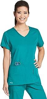 Grey's Anatomy Active 4-Pocket V-Neck Top for Women - Modern Fit Medical Scrub Top