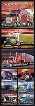 Supertrucks (Semi Trucks, Door) Art Poster Print Door Poster 21 x 62in