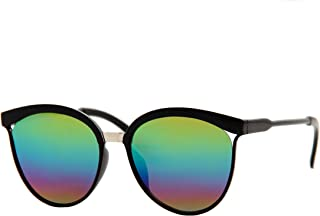 Design Fashion Cat Eye Mirrored Lens Oversized Sunglasses