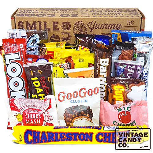 Vintage Old Fashioned Retro Candy Bars Assortment - PERFECT Throwback Present for Chocolate Lovers -...
