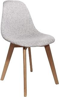 The Home Deco Factory HD6133 – Juego de 2 sillas Gruesas de Malla, Gris, Textil-bance, 46 x 85 x 55 cm