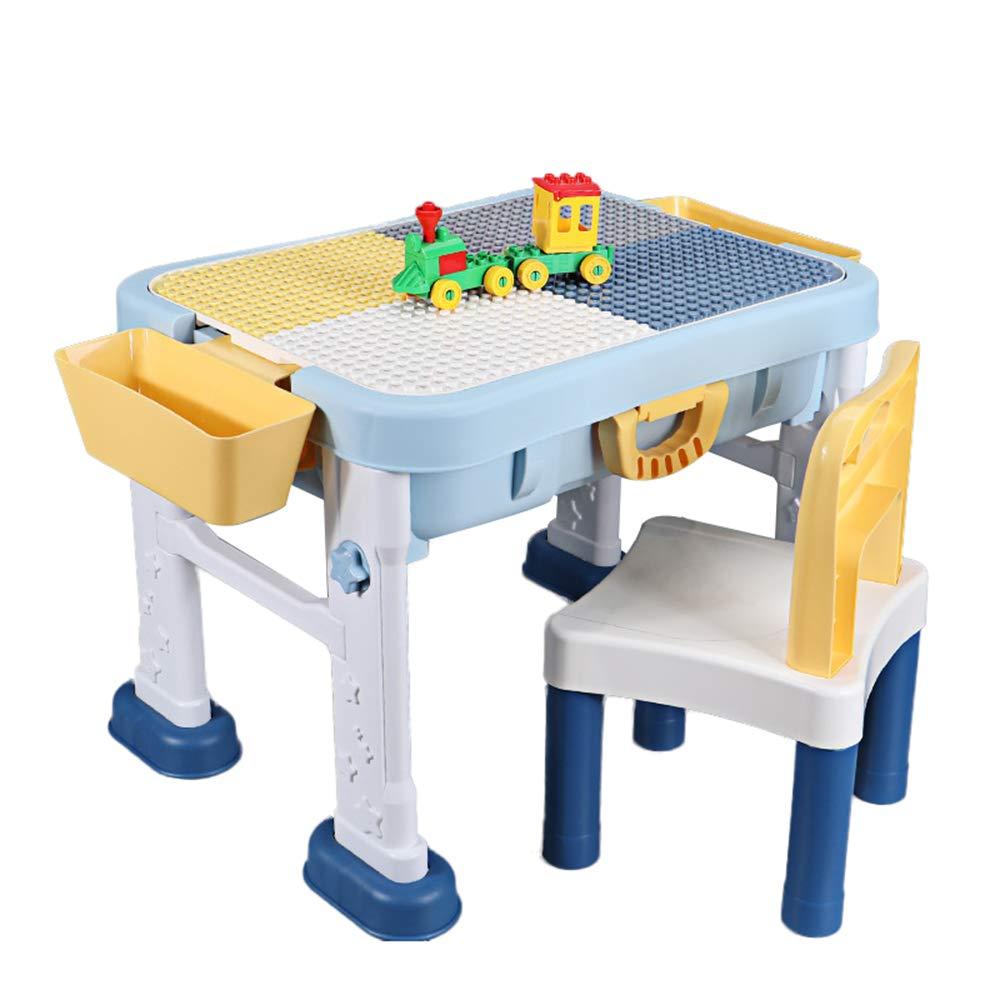 HOME FURNITURE Juego de Mesa y Silla para niños, Mesa de Almacenamiento de Juguetes con sillas, Juegos educativos de Primera Infancia, Compatible con Todo Tipo de partículas Grandes ZDDAB: Amazon.es: Hogar