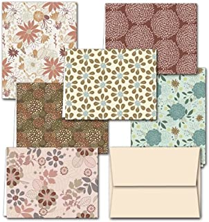 All Occasion Greeting Cards Assortment with Envelopes (Pack of 36) 6 Unique Floral Frenzy Designs - Off White Envelopes - Blank Note Card – Glossy Cover