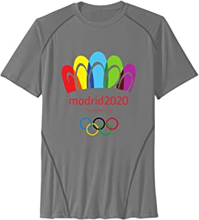 Men's Madrid Bid For The 2020 Summer Olympic Game Sport Quick Dry Short Sleeves T-Shirt