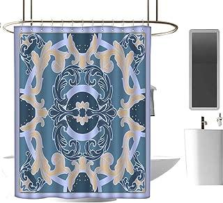 Genhequnan Geometric Shower Curtain Extra Wide Shower Curtain Modern Bathroom Home Decor W69 x L74 Inch