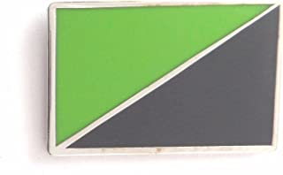1000 Flags Anarchy Anarcho-Environmentalism Flag Metal Pin Badge