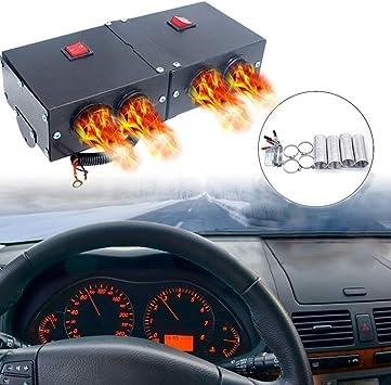 Car Heater - MASO 12V 500W Car Heater Kit High Power Fast Heating Fan Defrost Defogger for Automobile Windscreen Winter: image