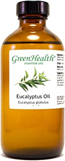 GreenHealth Eucalyptus Globulus – 8 fl oz (237 ml) Glass Bottle w/Cap – 100% Pure Essential Oil