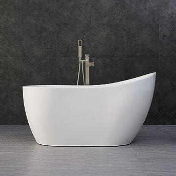Woodbridge Acrylic Freestanding Contemporary Bathtub