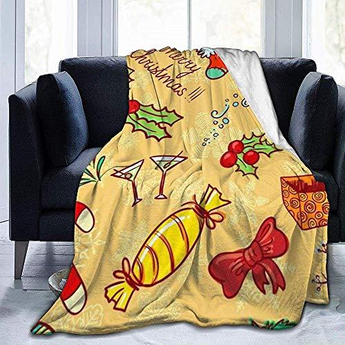 wobuzhidaoshamingzi wollen deken van pluche van flanel in kost met motief achtergrond geel Kerstmis