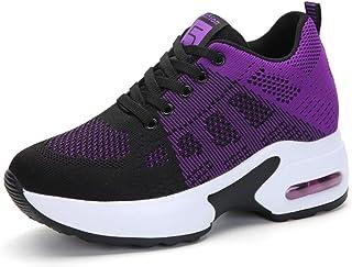 AONEGOLD® Baskets Femmes Compensees Chaussure de Sport Gym Fitness Sneakers Basses Compensée Plateforme Talon de 8 cm
