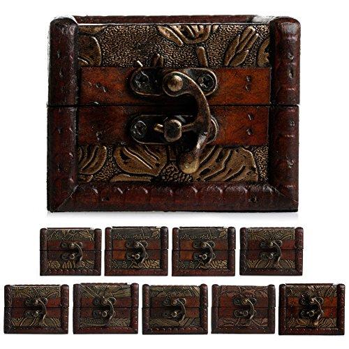 suoryisrty Aufbewahrungsbox 1 Stück Stil Zufällige Vintage Kleine Holzschloss Schmuck Halter Lagerung Halskette Armband Geschenkbox Fall