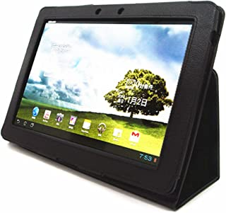 Folding Cover Case with Stand for Asus TF300T TF300 10.1-Inch Android Tablet-Black (TF300T/TF300, Black)