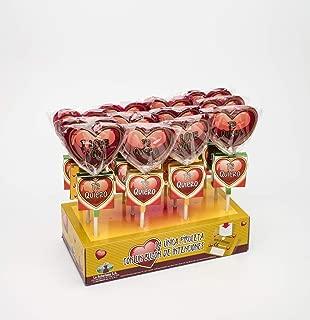 Piruleta Artesana La Asturiana - Piruleta 100% Artesana de Corazón con Buzón de Intenciones para Depositar un Mensaje - Ideal como Regalo Romántico o para Seres Queridos - 20 unidades x 25 gramos