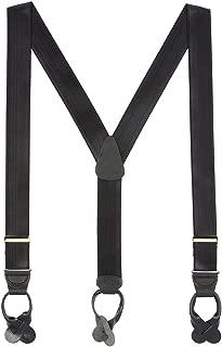 SuspenderStore Men's French Satin Dressy Button-End Suspenders (3 Sizes)